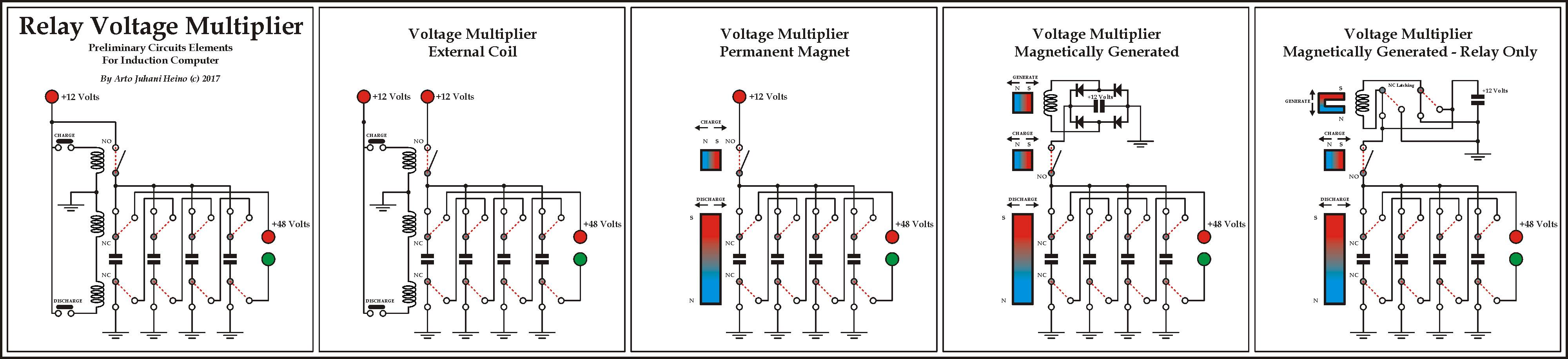 Voltage Multiplier Artojhs Renderings Relay Coil In The I Have Even Eliminated Any Semiconductors Diodes And Batteries While Only Using Coils Capacitors Magnets